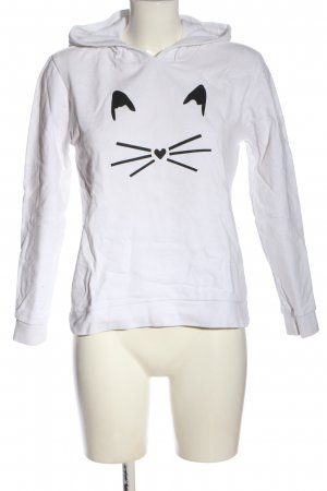 Karl Lagerfeld Kapuzensweatshirt weiß Motivdruck Casual-Look