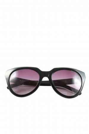 Karl Lagerfeld Lunettes carées noir-rose style décontracté