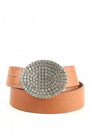 Karl Lagerfeld Cintura di pelle marrone stile professionale