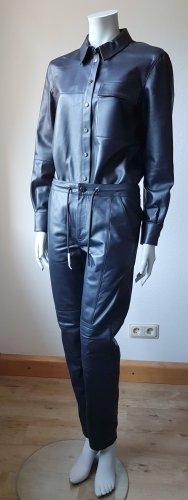 Karl Lagerfeld Garnitur damski ciemnoniebieski Skóra