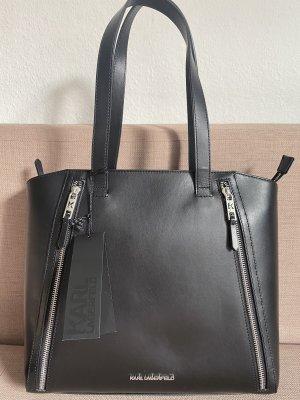 Karl Lagerfeld Shopper noir-argenté cuir