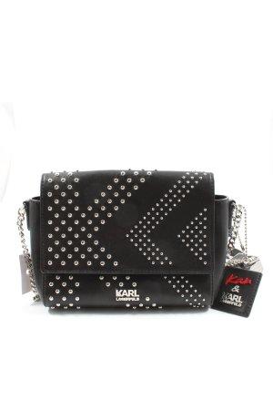 Karl Lagerfeld Minitasche schwarz-silberfarben Business-Look