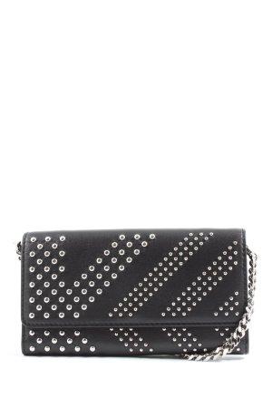 Karl Lagerfeld Minitasche schwarz-silberfarben Casual-Look