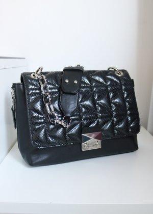 Karl Lagerfeld Borsa a tracolla nero-argento Pelle