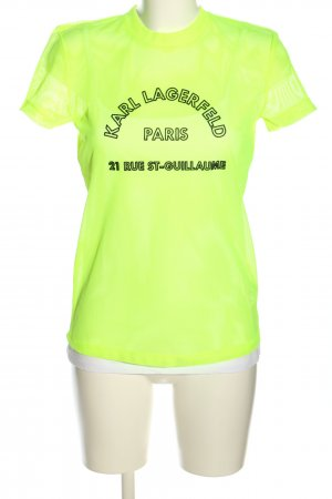 Karl Lagerfeld Netshirt groen-zwart casual uitstraling