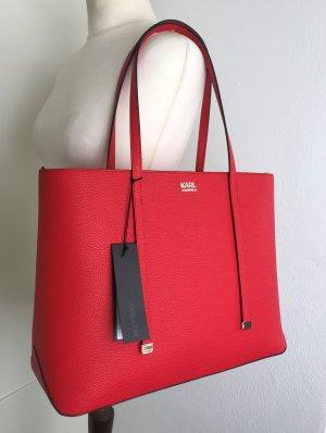 Karl Lagerfeld Torba shopper czerwony-srebrny Poliuretan