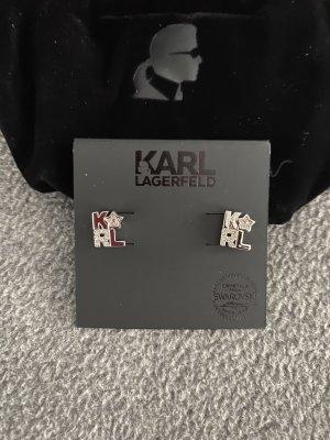 Karl Lagerfeld Oorstekers zilver Gemengd weefsel