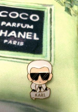 Karl Lagerfeld Brooch white-black
