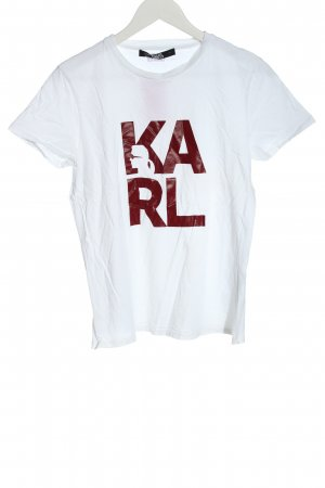 Karl Lagerfeld Print Shirt white printed lettering casual look