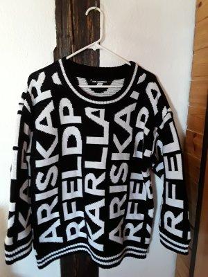 Karl Lagerfeld Maglione di lana bianco-nero
