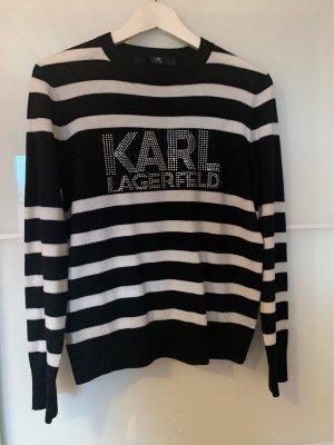 Karl Lagerfeld Crewneck Sweater black-white