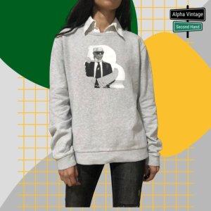 Karl Lagerfeld Pullover Sweaters Sweatshirt grauer Pulli   S