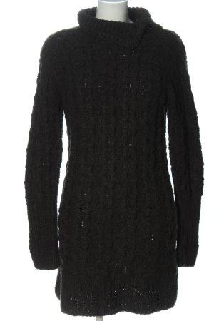 Karl Lagerfeld Swetrowa sukienka czarny Warkoczowy wzór W stylu casual