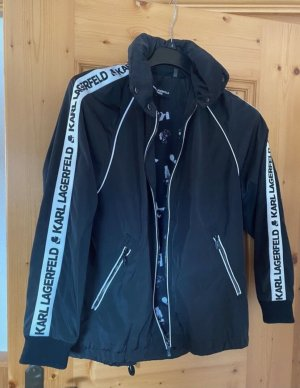 Karl Lagerfeld Impermeabile nero-bianco