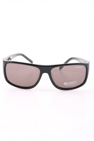 Karl Lagerfeld Retro Brille schwarz Casual-Look