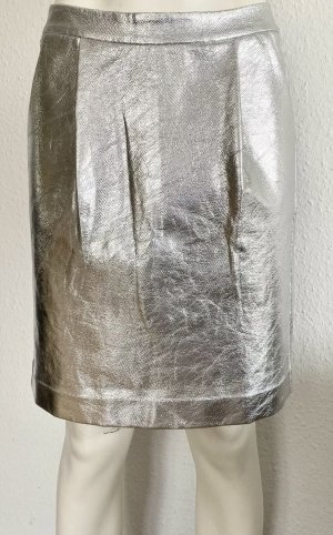 KARL LAGERFELD Rock Gr. 36 silber metallic