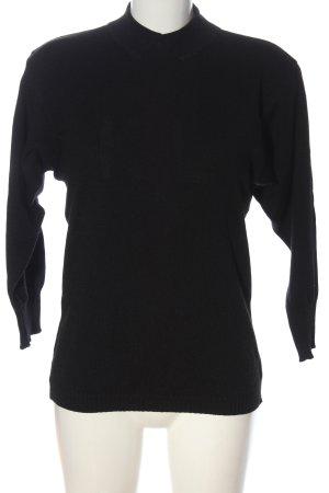 Karl Lagerfeld Maglione di lana nero stile casual