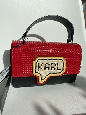 Karl Lagerfeld rote/pixel Tasche NEU