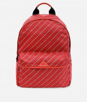 Karl Lagerfeld Laptop rugzak rood Nylon