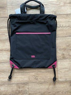 Karl Lagerfeld Plecak na notebooka czarny-różowy