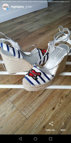 Karl Lagerfeld Mule à talon blanc
