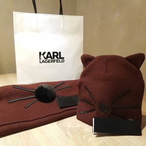Karl Lagerfeld Knitted Hat multicolored