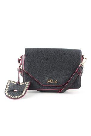Karl Lagerfeld Schultertasche schwarz-pink Business-Look