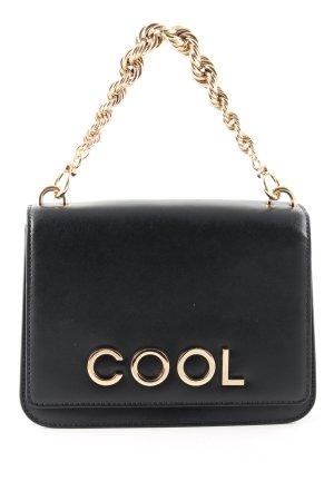 Karl Lagerfeld Schultertasche schwarz-goldfarben Casual-Look
