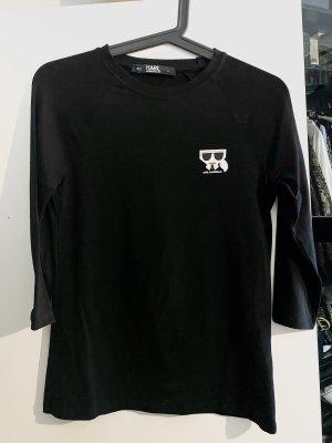 Karl Lagerfeld Long Shirt black cotton