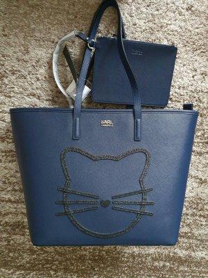 Karl Lagerfeld shopper navy blue