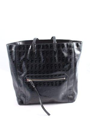 Karl Lagerfeld Shopper schwarz Allover-Druck Business-Look