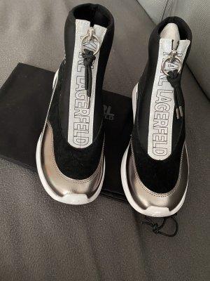 Karl Lagerfeld Slip-on Sneakers black-silver-colored