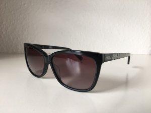 Karl Lagerfeld Hoekige zonnebril zwart-wit