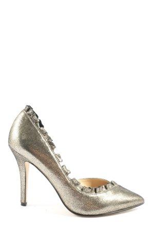 Karl Lagerfeld Spitz-Pumps goldfarben Casual-Look