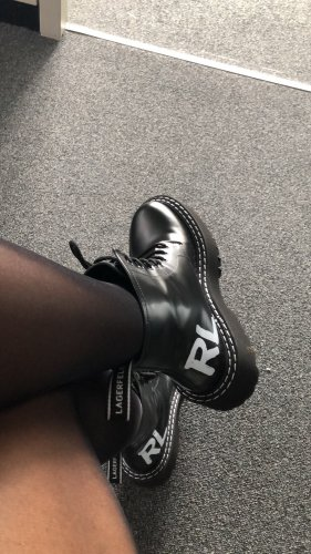 Karl Lagerfeld Lace-up Boots black