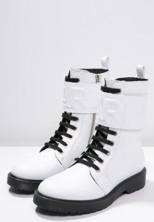 KARL LAGERFELD Stiefel Stiefeletten Track Boots weiß – 36