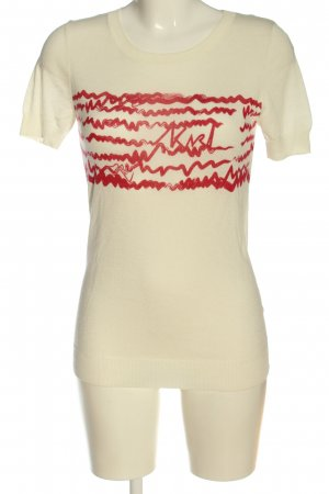 Karl Lagerfeld Knitted Jumper natural white-red casual look