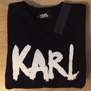 Karl Lagerfeld Felpa bianco-nero Cotone