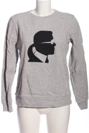 Karl Lagerfeld Sweatshirt hellgrau-schwarz meliert Casual-Look