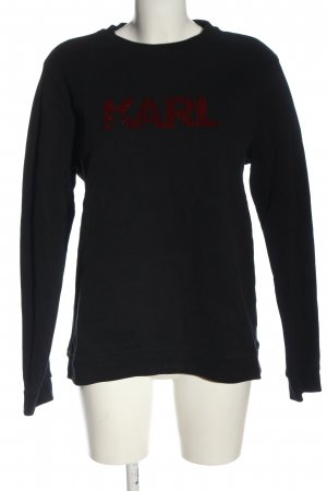 Karl Lagerfeld Sweatshirt schwarz-rot Schriftzug gedruckt Casual-Look