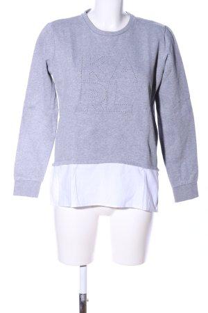 Karl Lagerfeld Sweatshirt hellgrau-weiß meliert Casual-Look