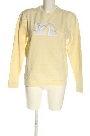 Karl Lagerfeld Sweatshirt wollweiß-weiß Casual-Look