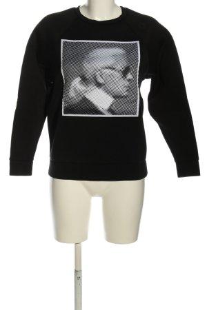 Karl Lagerfeld Sweatshirt schwarz-weiß Motivdruck Casual-Look