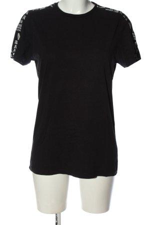 Karl Lagerfeld T-Shirt schwarz Schriftzug gedruckt Casual-Look