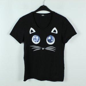 Karl Lagerfeld T-Shirt Gr. S schwarz Katze (20/02/338*)