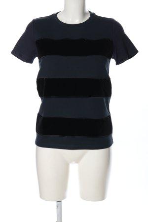 Karl Lagerfeld T-Shirt schwarz-blau Streifenmuster Casual-Look