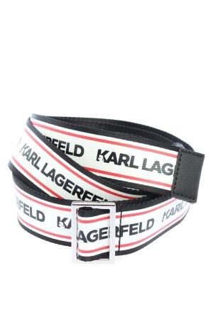 Karl Lagerfeld Pasek do założenia w talii Wydrukowane logo W stylu casual
