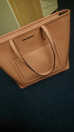 Karl Lagerfeld Borsa shopper rosa chiaro argento Finta pelle