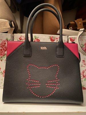 Karl Lagerfeld Borsetta nero-rosa