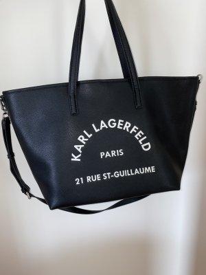 Karl Lagerfeld Shopper zwart Leer